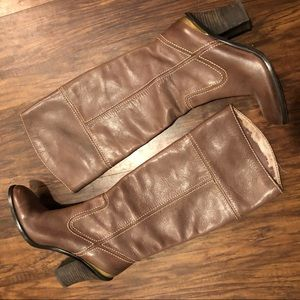 Lucky Brand Brown Leather Heeled Boots 7.5